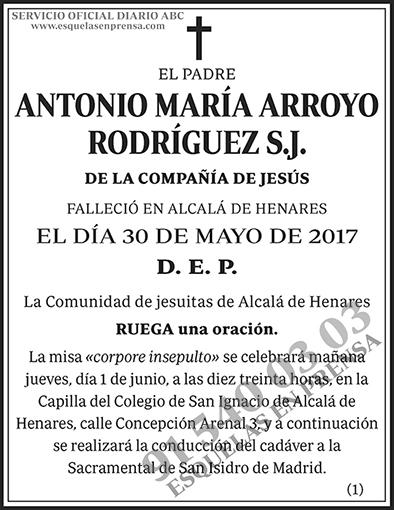 Antonio María Arroyo Rodríguez